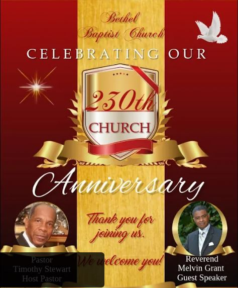 Bethel Baptist Church's 230th Anniversary Service 2020